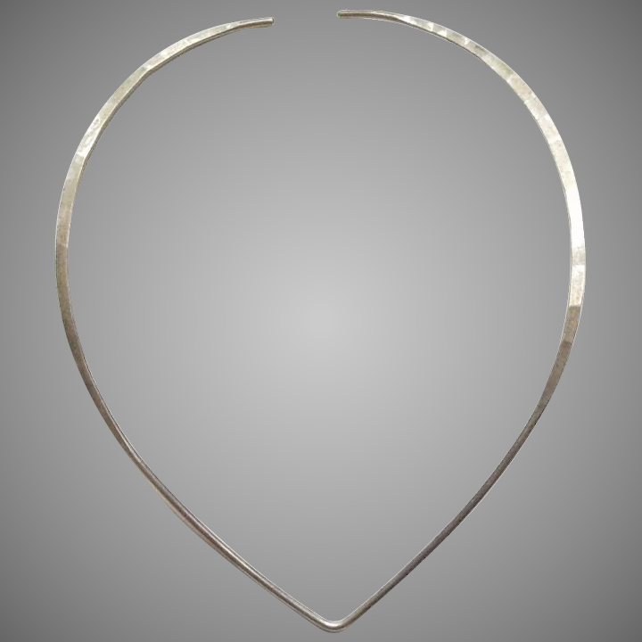 cfa18e525f3 David Andersen Hammered Sterling Silver Neck Ring Collar Necklace ...