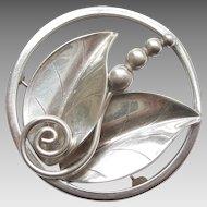 Alphonse LaPaglia Designed International Sterling Silver #207 Leaf & Berry Pin