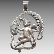 Cini Virgo Sterling Silver Zodiac Pendant