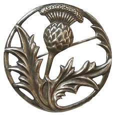 Sterling Silver Scottish Thistle Flower  Pin - Felch and Company - Early Danecraft
