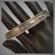 James Avery Retired Sterling Silver Bangle Bracelet 'Animals of the Ark' Noah's Ark Two by Two