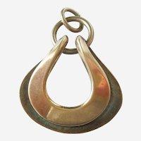 David-Andersen Sterling Silver Vermeil Modernist Necklace Pendant - MCM Mid-century Modern