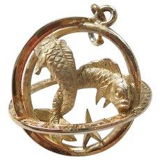 Pisces, The Fish, TRIFARI 3D Zodiac Astrology Charm / Pendant / Orb / Sphere