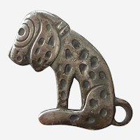 Dismal Desmond Dalmatian Dog Small Sterling Silver Pin