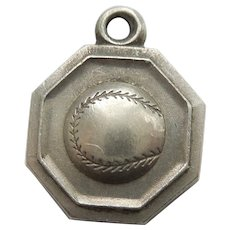Sterling Silver Baseball Charm - Sports Medal