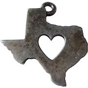 'Deep in the Heart of Texas' James Avery Sterling Silver Texas State Map Charm