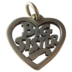 Big Sister Heart James Avery Sterling Silver Charm