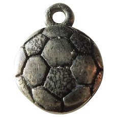 James Avery Retired Sterling Silver Soccer Ball Charm - Sports