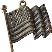Waving American Flag James Avery Sterling Silver Charm