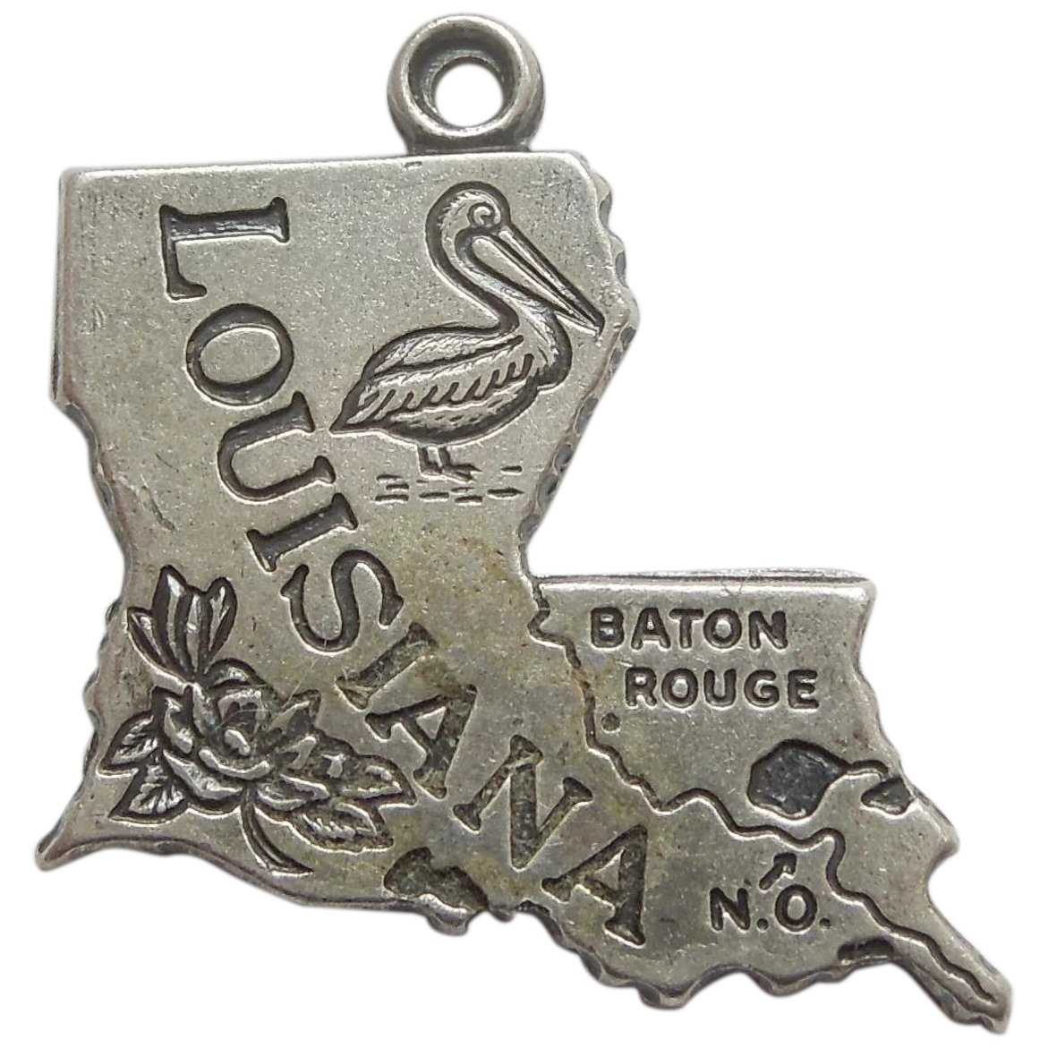 Sterling Silver Louisiana Charm