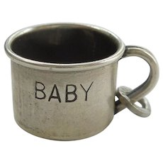 Beau Sterling Silver Baby Cup Charm