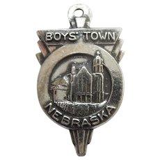 Bates & Klinke B&K BOYS' TOWN NEBRASKA Sterling Silver Art Deco Charm