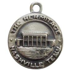 Bates & Klinke B&K 'The Hermitage, Nashville Tennessee' Sterling Silver Travel Souvenir Charm