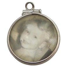 Vintage Double-sided Lucite Bubble Photo Charm