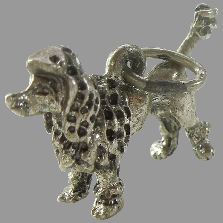 Beau Sterling Silver French Poodle Dog