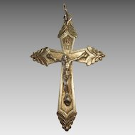 Vintage Sterling Silver Crucifix / Cross Christian - Religious Medal / Pendant