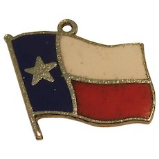 Texas State Flag Sterling Silver and Enamel Charm - Lone Star State