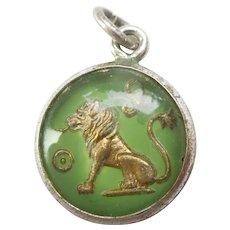 LEO the LION Zodiac Bubble Charm - Danecraft Sterling Silver