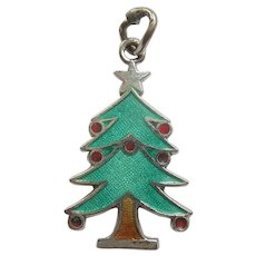 Christmas Tree Sterling Silver and Enamel Charm