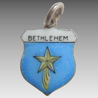 Star of BETHLEHEM Israel - Vintage Enamel Travel Shield Charm