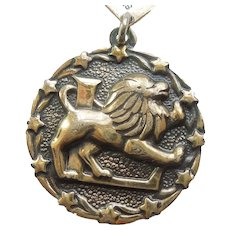 LEO the LION Zodiac Charm - Bell Trading Post Sterling Silver