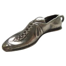 Old-fashioned Sterling Silver Running / Athletic / Sports Shoe with Cleats Charm
