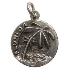Bates & Klinke B&K FLORIDA Palm Trees and Beach Sterling Silver Travel Souvenir Charm