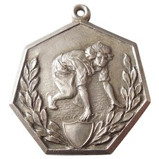 Women's Track and Field / Running - Sterling Silver Sports Medal / Charm / Fob / Pendant - Dieges & Clust