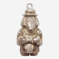TOBERMORY the WOMBLE English Storybook Character Sterling Silver Charm - Hallmarked for L&N 1975