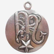 Margot de Taxco SCORPIO the Scorpion Zodiac Sterling Silver Pendant / Charm Mexico