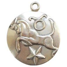 Margot de Taxco Mexico Sterling Zodiac Charm Pendant – Taurus the Bull