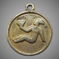 Virgo David Andersen D-A Small Round Sterling Silver Vermeil Zodiac Charm