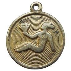Zodiac Vintage Silver Enamel Travel Charm Jewellery & Watches Virgo