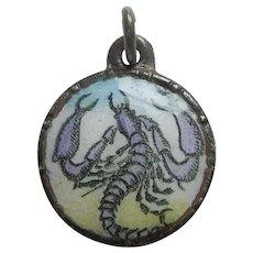 Vintage European Enamel Zodiac Charm - Scorpio the Scorpion