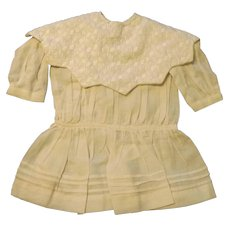 Sweet White Doll Dress with Large Collar