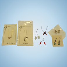 Lot of Doll Earrings--Old and New