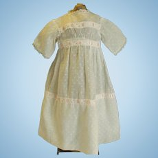 Vintage Dotted Swiss Doll Dress