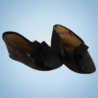 Black Doll Shoes, Size 9
