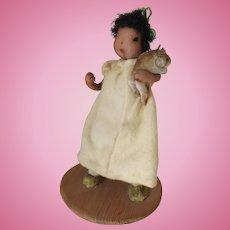 Cute Little Artist Doll by Harriet Brown, Hancock, NH