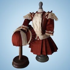 Beautiful French Doll Dress and Bonnet