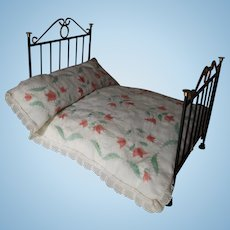 Doll House Bed With Hand Quilted Coverlet