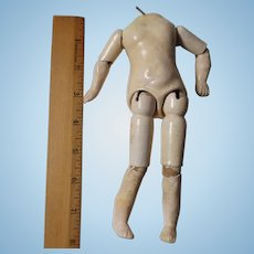 Small Composition Jointed Doll Body
