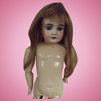 Vintage Human Hair Doll Wig, Dark Blond