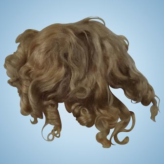 Antique Blond Mohair Doll Wig