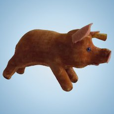 Steiff Pig with Button and Tag