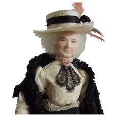 Unusual Elderly Woman Doll House Doll