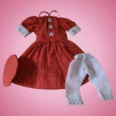 Bleuette Size Dress, Hat and Pantaloons