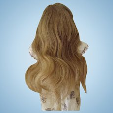 Nice Old Blond Human Hair Wig With Bangs