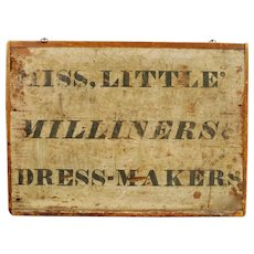 Early American Dress Maker's Trade Sign