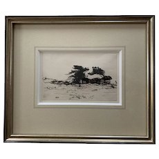 Ernest Haskell Drypoint Etching of Monterey, CA